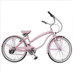 Greenline Bicycles BC 706(L) pink Ladies 26 Seven Speed Beach Cruiser