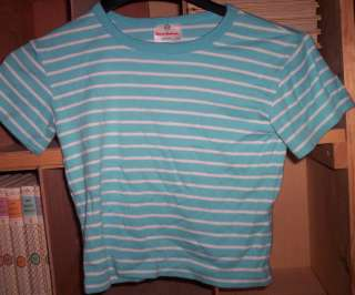 GIRLS SIZE 110 HANNA ANDERSSON SHORT SLEEVE PULLOVER TOP SHIRT