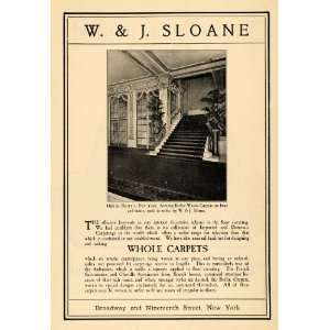 1903 Ad W. J. Sloane Whole Carpets Sheery Stairs Woven