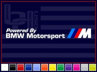 32 BMW MOTORSPORT Banner Decal Sticker M3 *BLACK*
