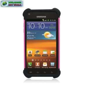 hot Pink Hared Cover+ Black Slcn Case 3in1 Cell Phones & Accessories