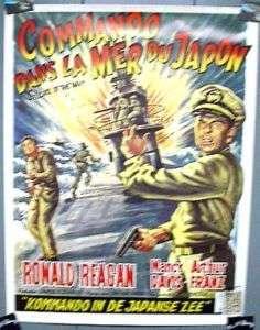 Movie Poster HELLCATS OF THE NAVY Ronald Reagan