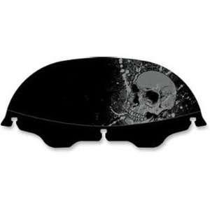 Offset Skull Windscreen for Harley Davidson Touring Models Automotive