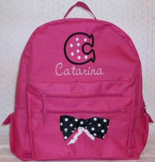 Personalized Girl Backpack Monogrammed School Book Bag