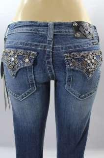 BNWT Miss Me Jean Ladies Beads Stones Skinny Jeans Pant