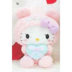 Panda Hello Kitty with Lace Ribbon Heart 2L Plush (12) Type A Pink