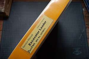 JCB Backhoe Loader Repair Shop Service Manual engine overhaul book