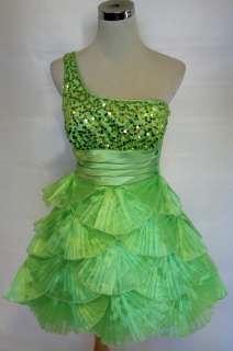 NWT MASQUERADE $120 kiwi Homecoming Party Prom Dress 13
