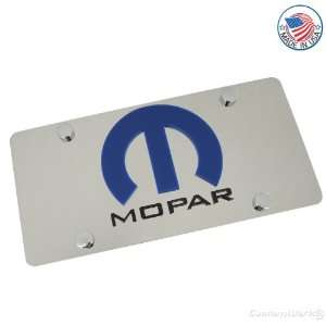 Chrysler/ Dodge Mopar Logo On Polished License Plate