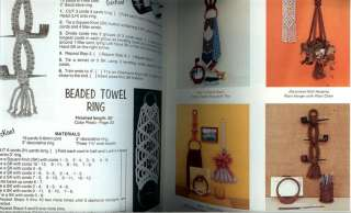 Judys KNOTTING NOTIONS~Vintage Macrame Book~ 46 Patterns~ 1 HOUR