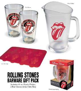 The Rolling Stones Tongue Logo Barware Gift Pack, NEW