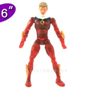 MARVEL LEGENDS SERIES FANTASTIC FOUR HUMAN TORCH ACTION FIGURE FA38