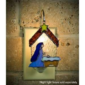 Switchables Stained Glass Nativity Night Light Cover Home Improvement