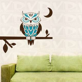 Night Owl Tree Branch Wall Decal Sticker Graphic
