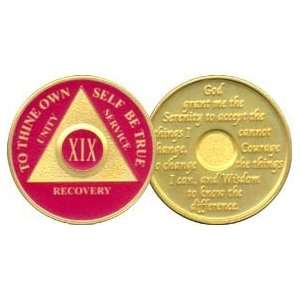 Anniversary Recovery Medallion / Coin / Chip   Red: Everything Else