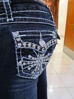 LA Idol Dazzling Crystal Cross Jeans  SPL