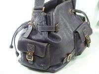 New MAXX Extra Large Grape Purple Leather Handbag Satchel Tote $248