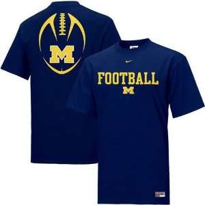 Michigan Wolverines NCAA Youth Team Issue T shirt by Nike (Navy Blue)