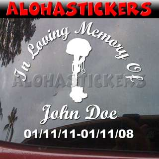 IN LOVING MEMORY OF SOLDIER Vinyl Decal Sticker ML26