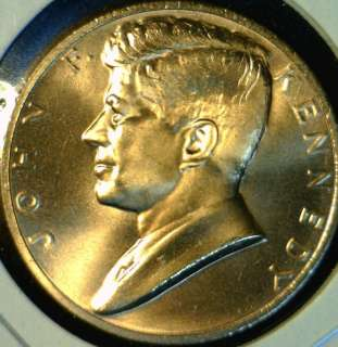 John F Kennedy JFK US MINT INAUGURATED Commemorative Bronze Medal