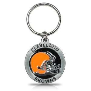 Cleveland Browns Logo Metal Key Chain, Official Licensed: Automotive