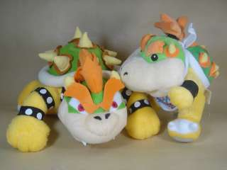 BOWSER 7 10 MARIO BROS PLUSH TOY DOLL LOT 2 PCS SET
