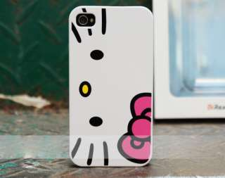 Hello Kitty Hard Case Cover for iPhone 4 4G +1unit Home button sticker