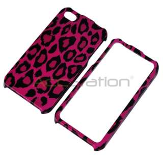 Leopard Snap on Hard CASE Cover+PRIVACY FILTER Guard for iPhone 4 G 4S
