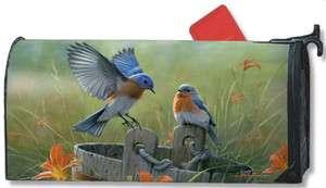 BLUEBIRD LANDING MAGNETIC MAILBOX COVER BLUE BIRD MAGNET WORKS   NEW