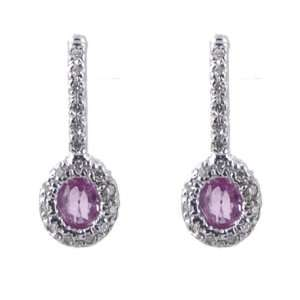 Mastini Hanging Pink Sapphire Earrings Mastini Fine