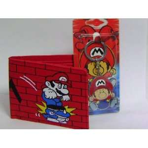 Unisex Super Mario Bros. Red Wallet and Keychain Toys & Games