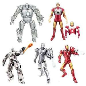 Iron Man 6 Figure Wave 1 Set Of 5 Toys & Games