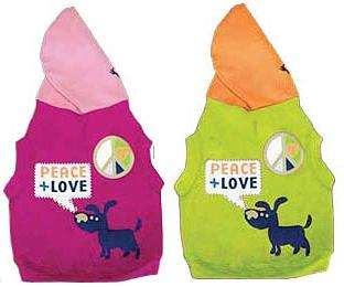 PEACE + LOVE Waghearted Dog Hoodie Shirt ALL SIZES Hooded Pullover