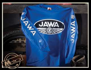 Metro Racing Jawa Vintage Motorcycle Mens Long Sleeved T Shirt