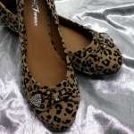 Fashion Casual Leopard Print Flats Shoes LORITA 04 CAMEL/Black NEW