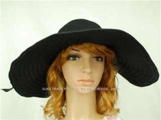 LADIES 15cm WIDE BRIM FLOPPY RACE GARDEN SUN CAP HAT CRUSHABLE