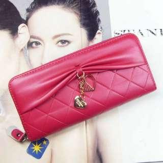 new fashion zip around long women clutch wallet purse