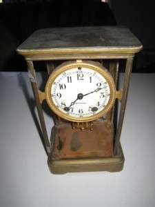 Antique Seth Thomas Mantle Brass Clock works but needs help