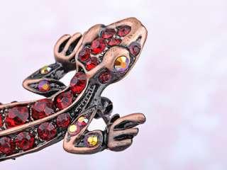 Antique Inspired Crystal Rhinestone Lizard Critter Animal Fashion Pin