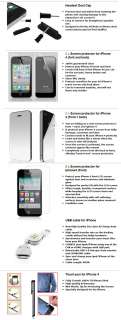 18 in 1 Accessory Bundle Pack case for Apple iPhone 4G