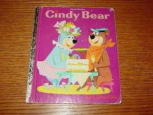 Cindy Bear 1961 C Printing Little Golden Book Hanna Barbera Jean