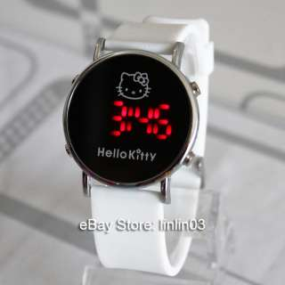 Fashion Hellokitty watch Lovely Big Dial watches Ladies LED WristWatch