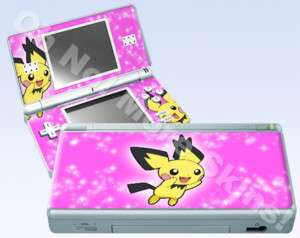 Nintendo DS Lite Skin Vinyl Decal Pokemon Pichu #2 Pink