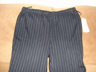 NEW Jones New York navy blue white striped pull on pants 2X, NWT $95