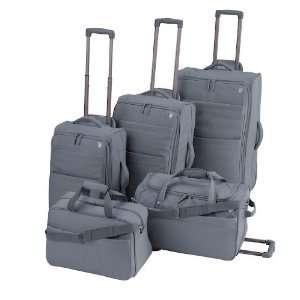 RENOVO 5 Piece Luggage Set   Charcoal