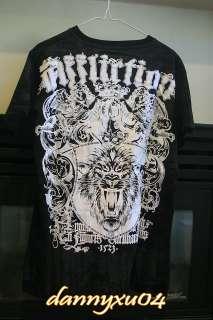 Affliction BLACK Live Fast Lion T Shirt NWT M L XL