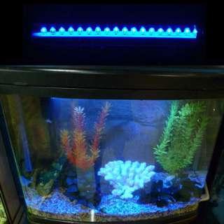 18 LED 7 inch Aquarium Fish Tank Blue LED Lights Bar