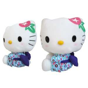 Kitty Plush   Sanrio Hello Kitty 11 Inch Plush (Blue) Toys & Games