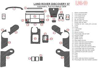 Land Rover Discovery Wood Chrome Dash Trim Kit Parts 97