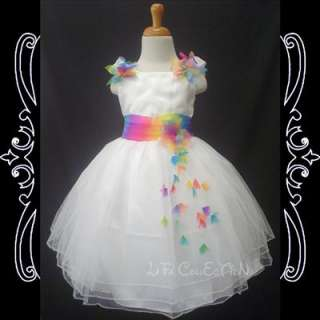 Flower Girls Princess Wedding Pageant Party Dress Clothe NEW White 2,3